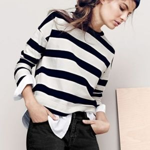 J.Crew Striped Long Sleeve Sweater with Shirt tail